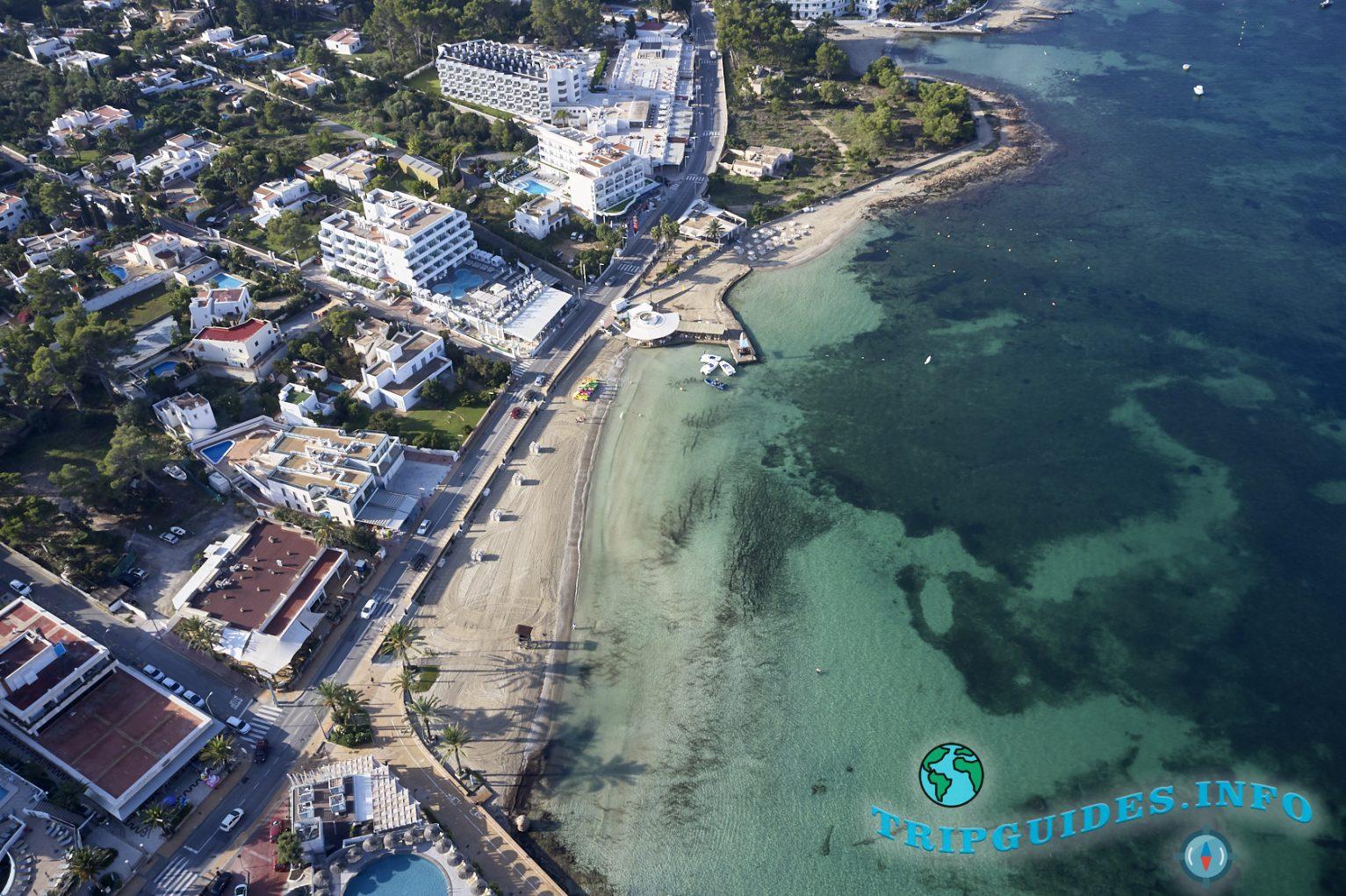 Пляж Пуэт (Platja des Pouet) в Сан-Антонио на Ибице