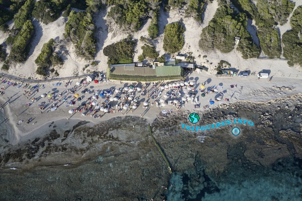 Пляжный бар Sa Trinxa на пляжах Сес Салинес
