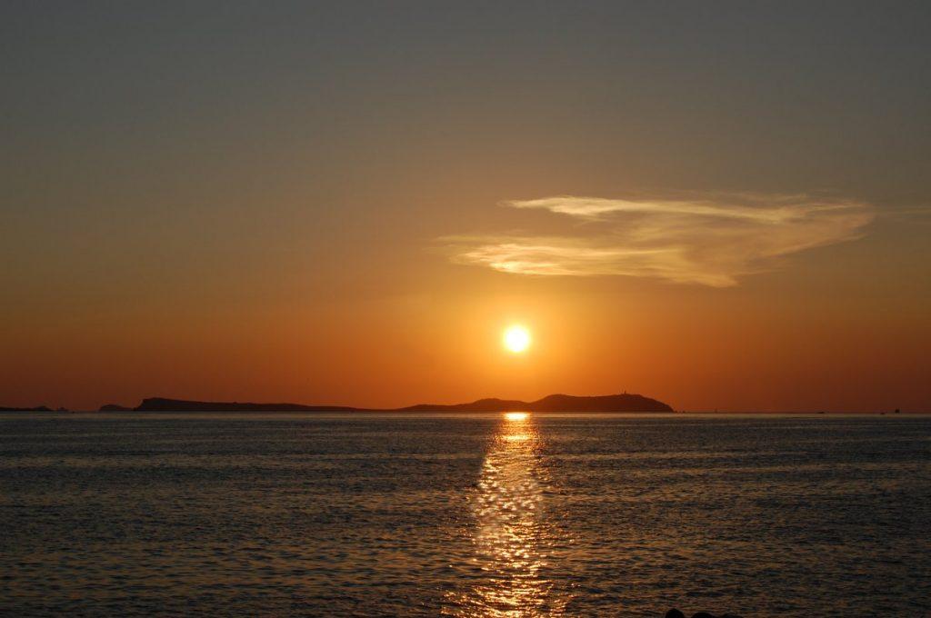 Закат солнца в Сан-Антонио на Ибице
