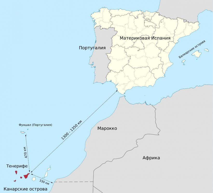 География Тенерифе - Канарские острова, Испания
