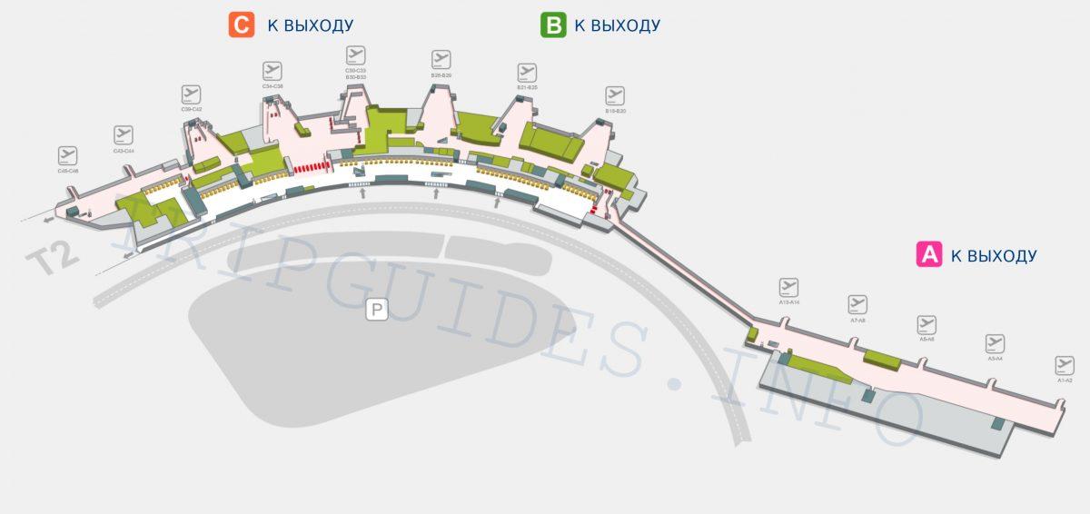 Схема аэропорта Мадрид Барахас Испания - терминал T1
