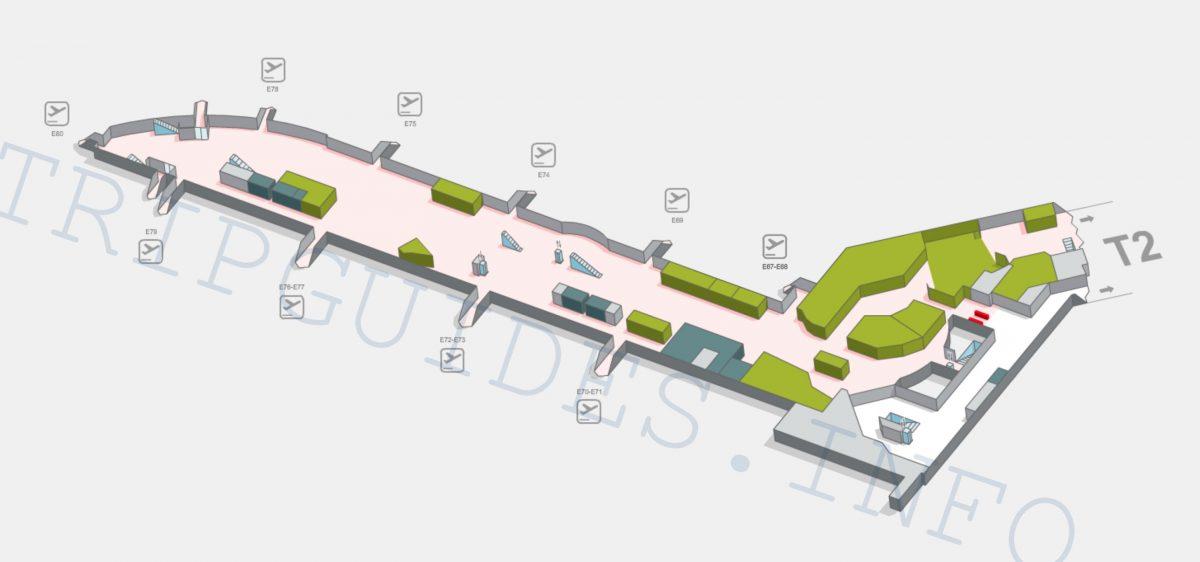 Схема аэропорта Мадрид Барахас Испания - терминал T3