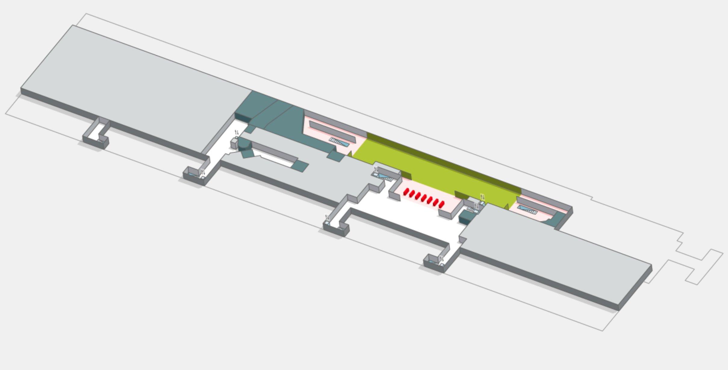 План схема аэропорт Тенерифе Южный Испания - Терминал 1
