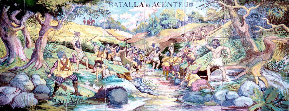 Битва гуанчей с испанцами под Асентехо - Тенерифе, Канарские острова