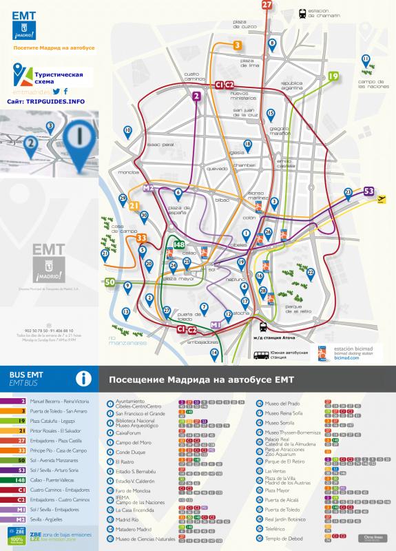 План посещения Мадрида на автобусе