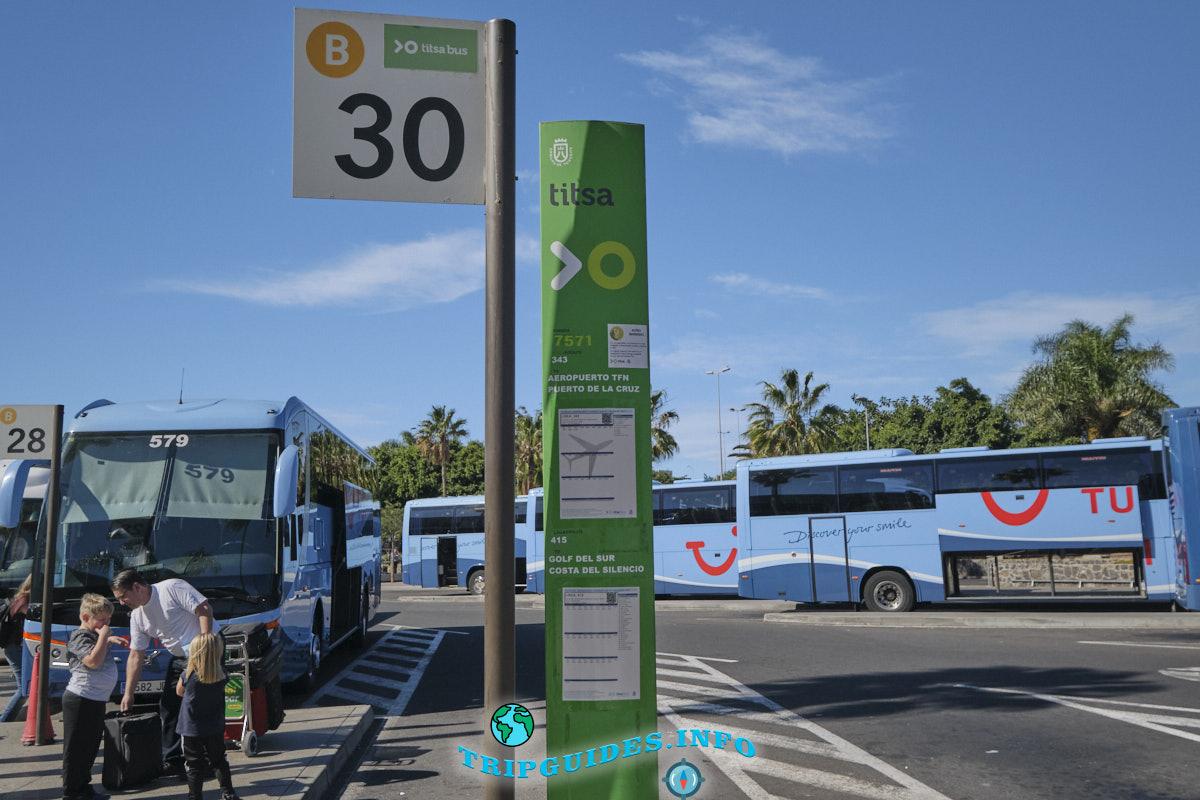 Стойка №30 - автобусная остановка в пуэрто-де-ла-крус