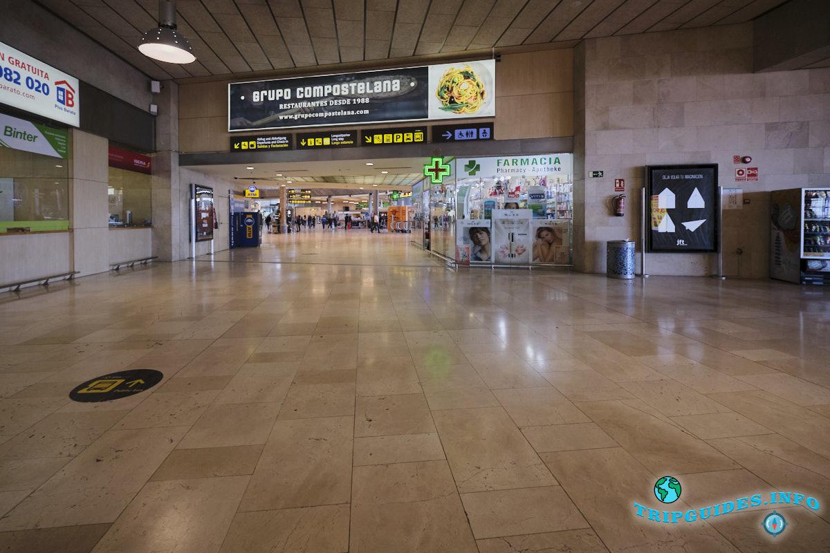 Аэропорт Тенерифе-Северный: выход в зал регистрации