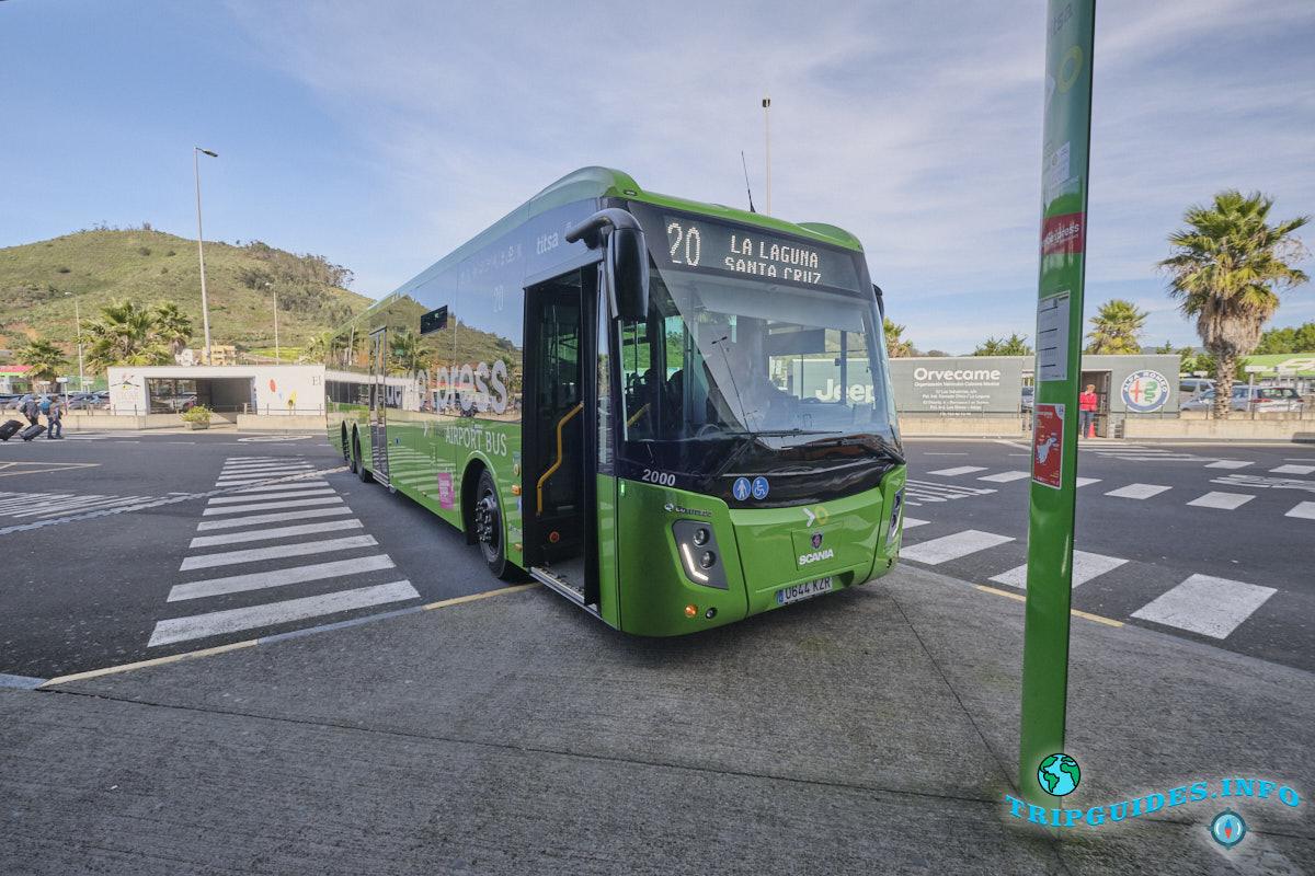 Аэропорт Тенерифе-Северный: автобус экспресс №20