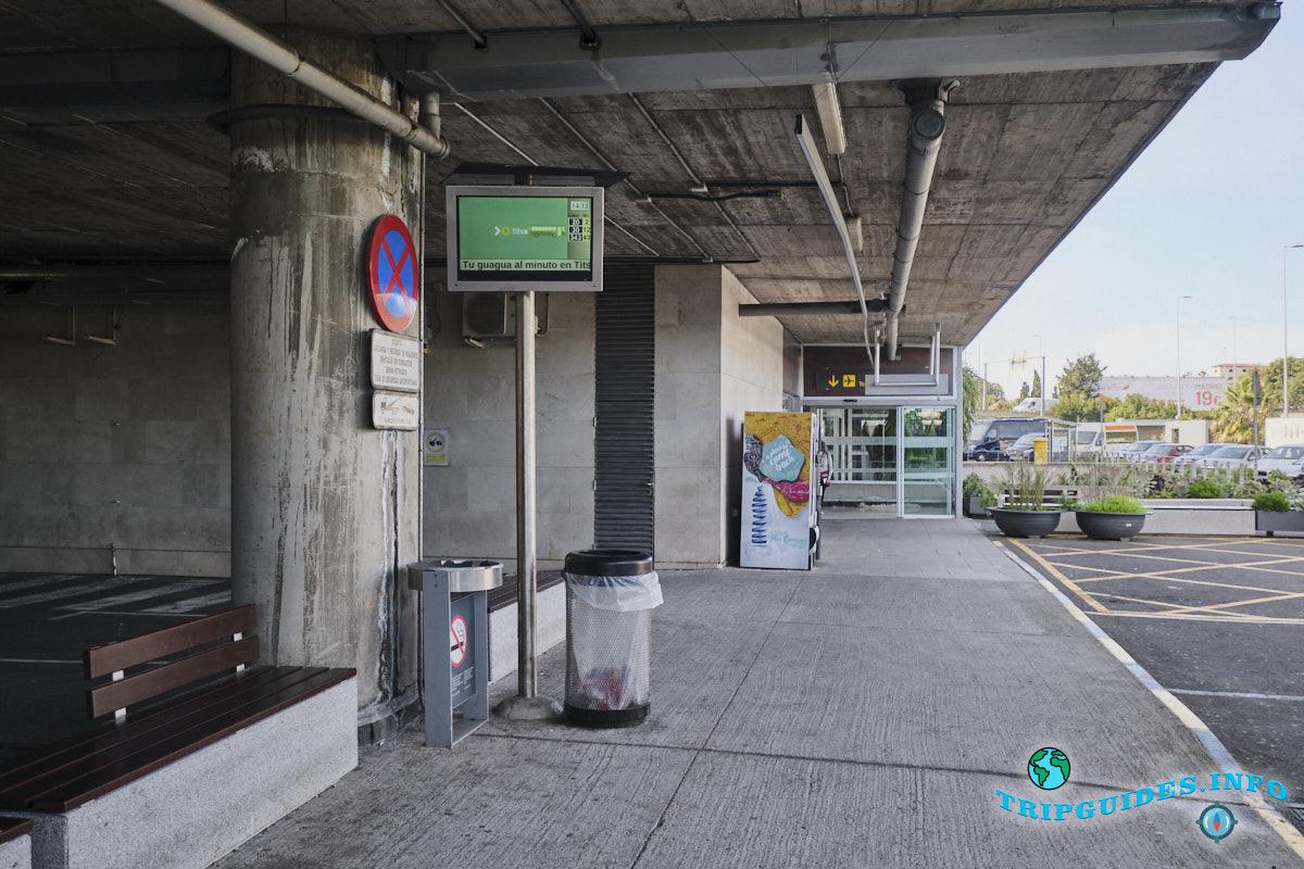 Аэропорт Тенерифе-Северный: автобусная остановка