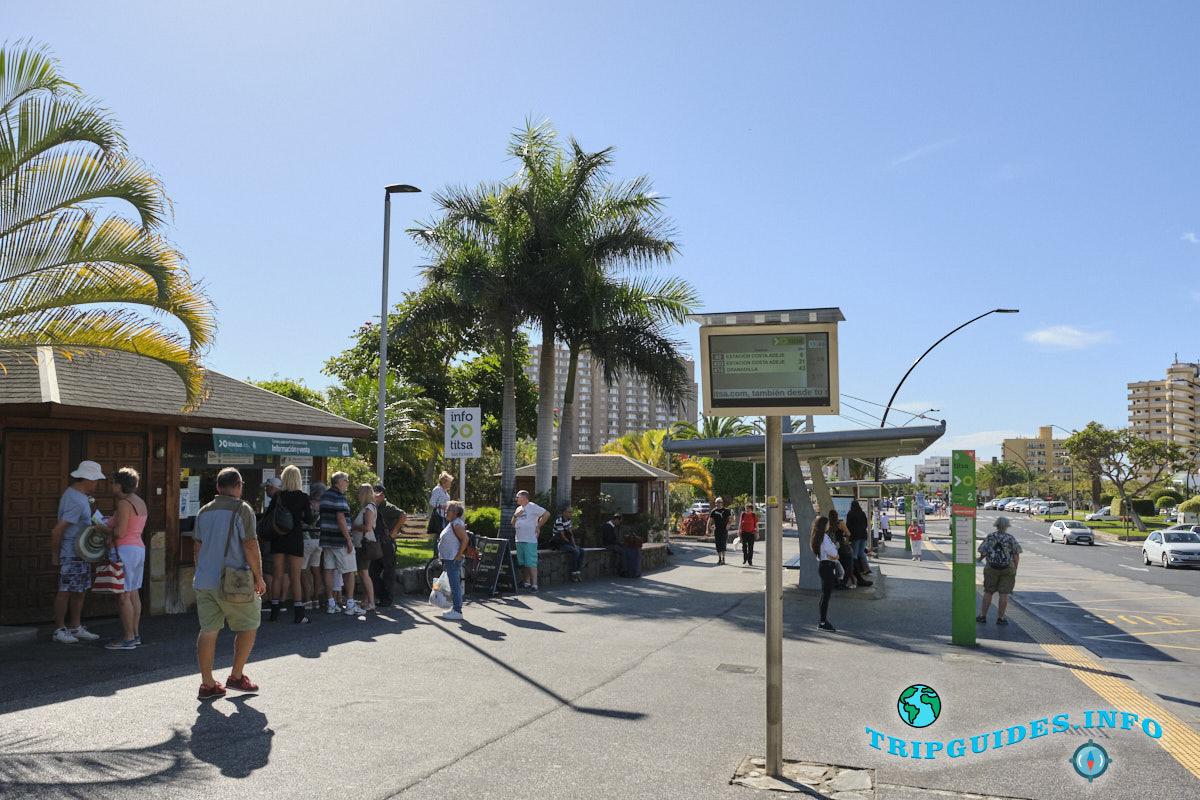 автовокзал в Лос Кристианос на Тенерифе