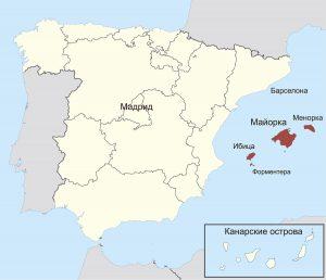 Расположении острова Ибица на карте