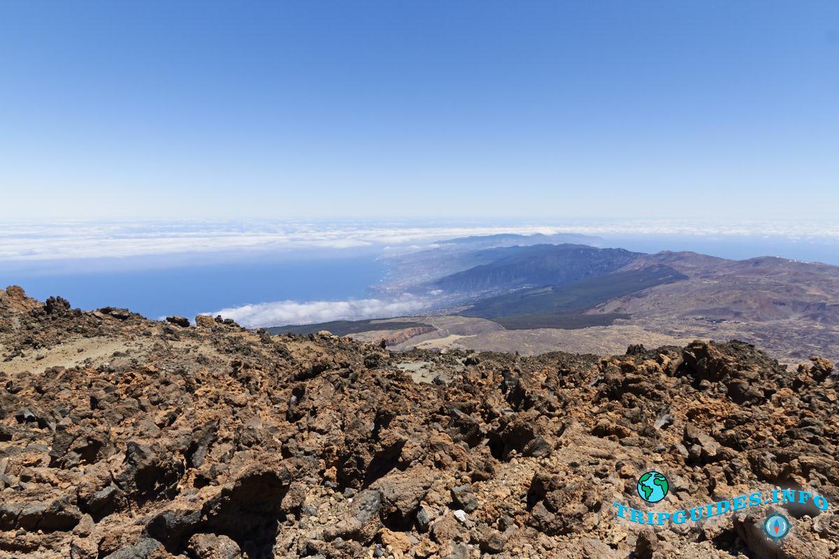 пешая прогулка по вулкану Тейде