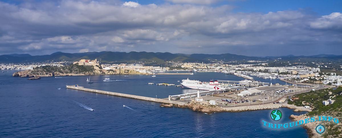 Главный морской порт на Ибице, Балеарские острова, Испания