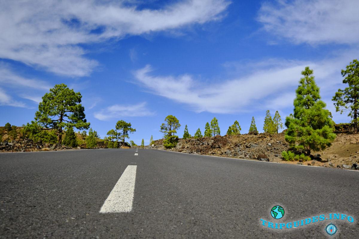 Дорога в Национальный парк Тейде - Тенерифе