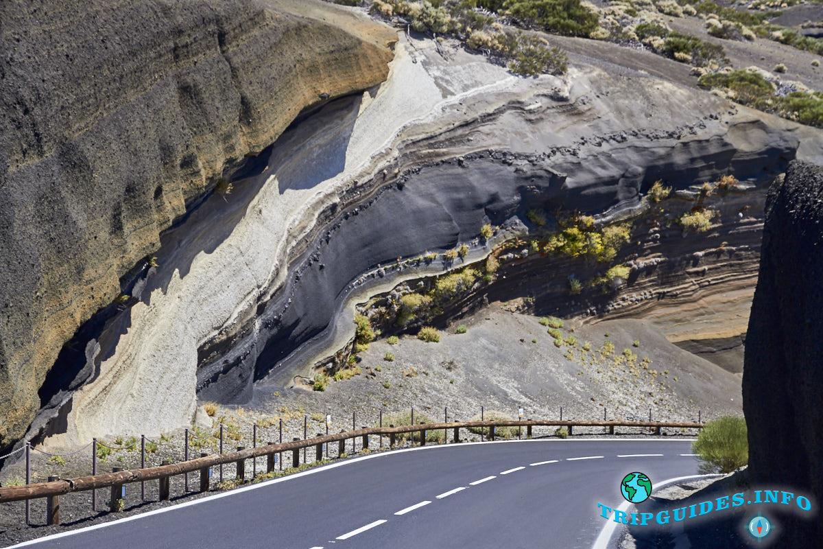 Смотровые площадки Mirador de la Tarta в Национальном парке Тейде