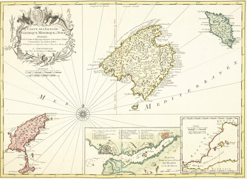 История Балеарских островов - карта