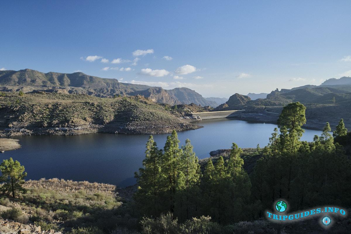 Озеро Presa de Las Ninas на Гран-Канарии
