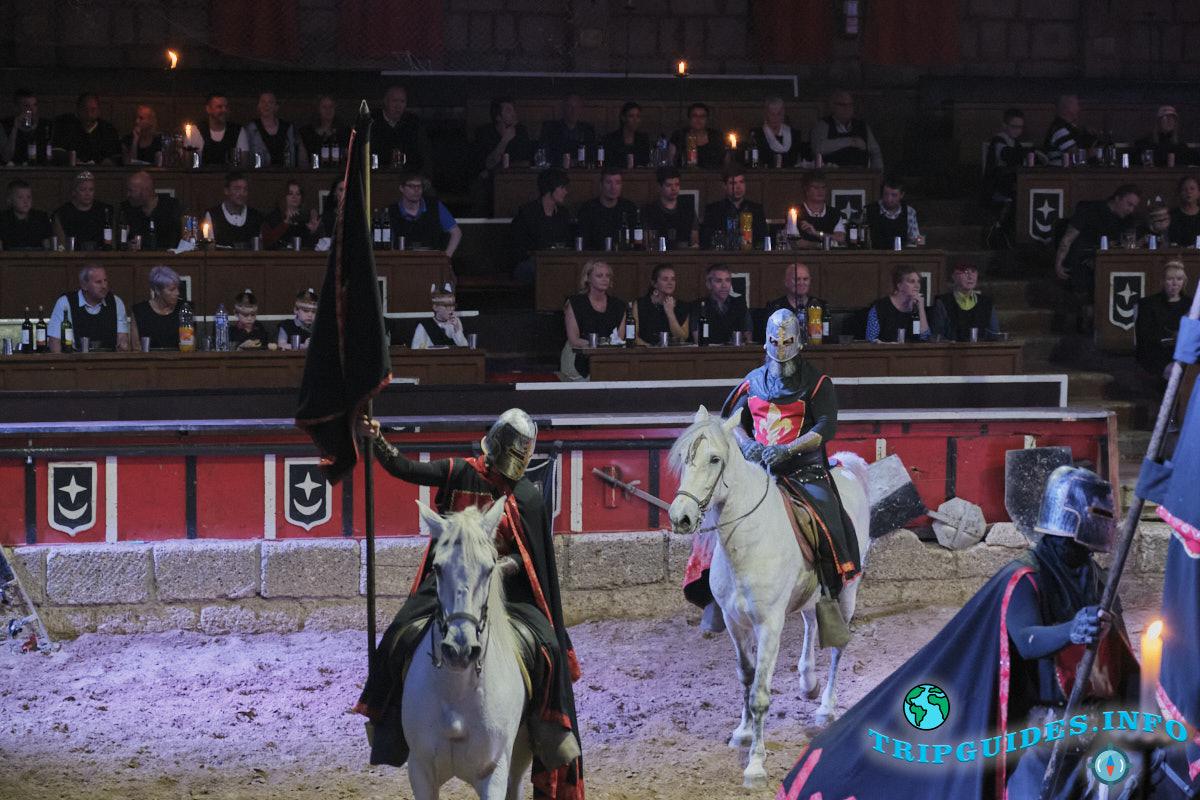 Рыцарское шоу (представление, турнир) в замке Сан-Мигель на Тенерифе