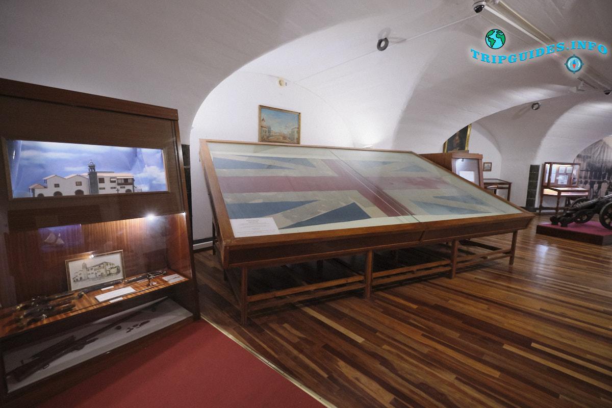 Настоящий флаг с корабля Горацио Нельсона | Алмейда — военный музей в Санта-Крус-де-Тенерифе