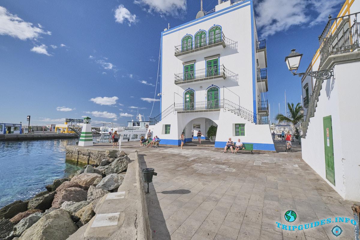Морской порт Пуэрто Моган на Гран-Канария