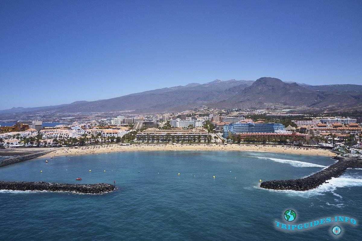 Пляж Эль Камисон с высоты (Playa del Camison) - Лас-Америкас Тенерифе