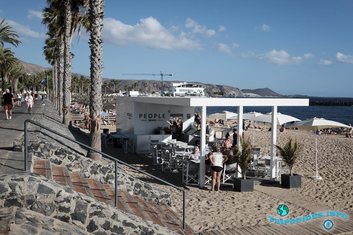 Пляжный бар на пляже Эль Камисон (Playa del Camison) - Лас-Америкас Тенерифе