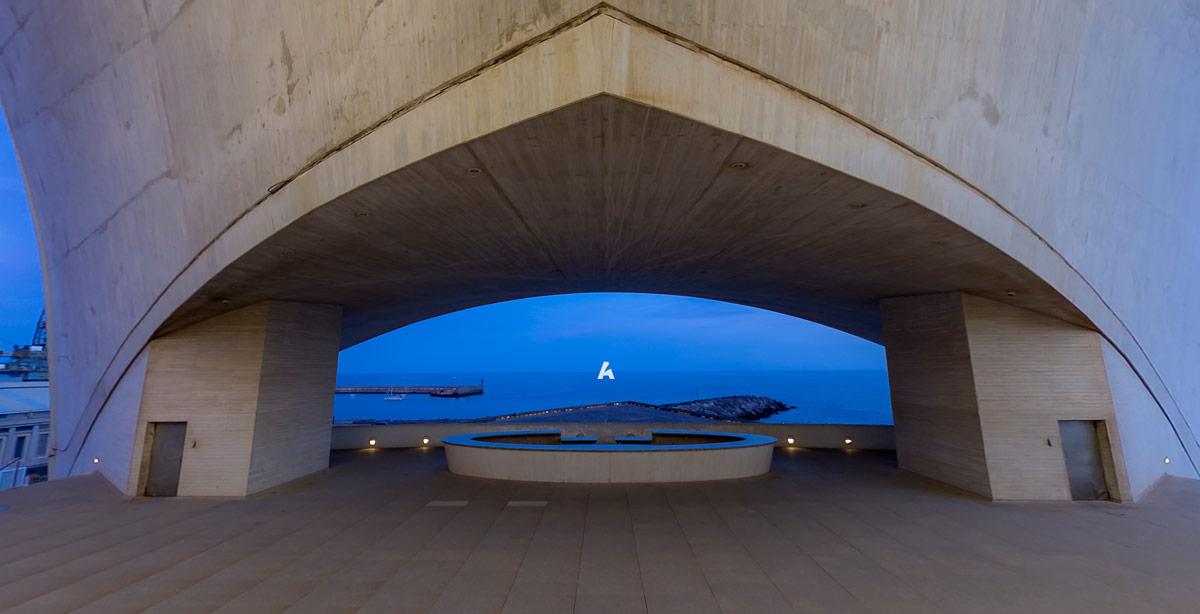 Аудиторио-де-Тенерифе в столице Санта-Крус-де-Тенерифе, Испания
