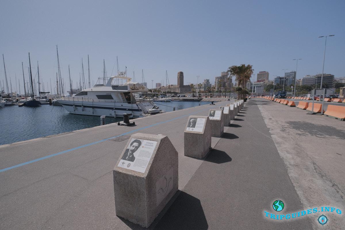 Мемориальные знаки выдающихся деятелей в круизном порту Санта-Крус-де-Тенерифе