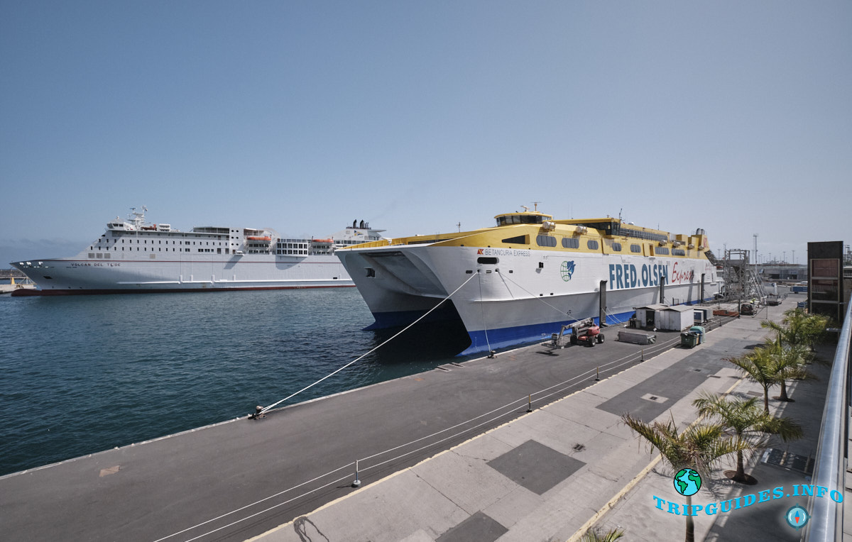 Корабль компании Fred Olsen в порту Санта-Крус