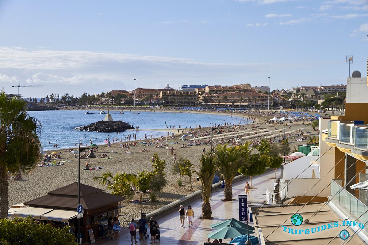 Пляж Плайя-де-Лас-Вистас Тенерифе Канарские острова Испания