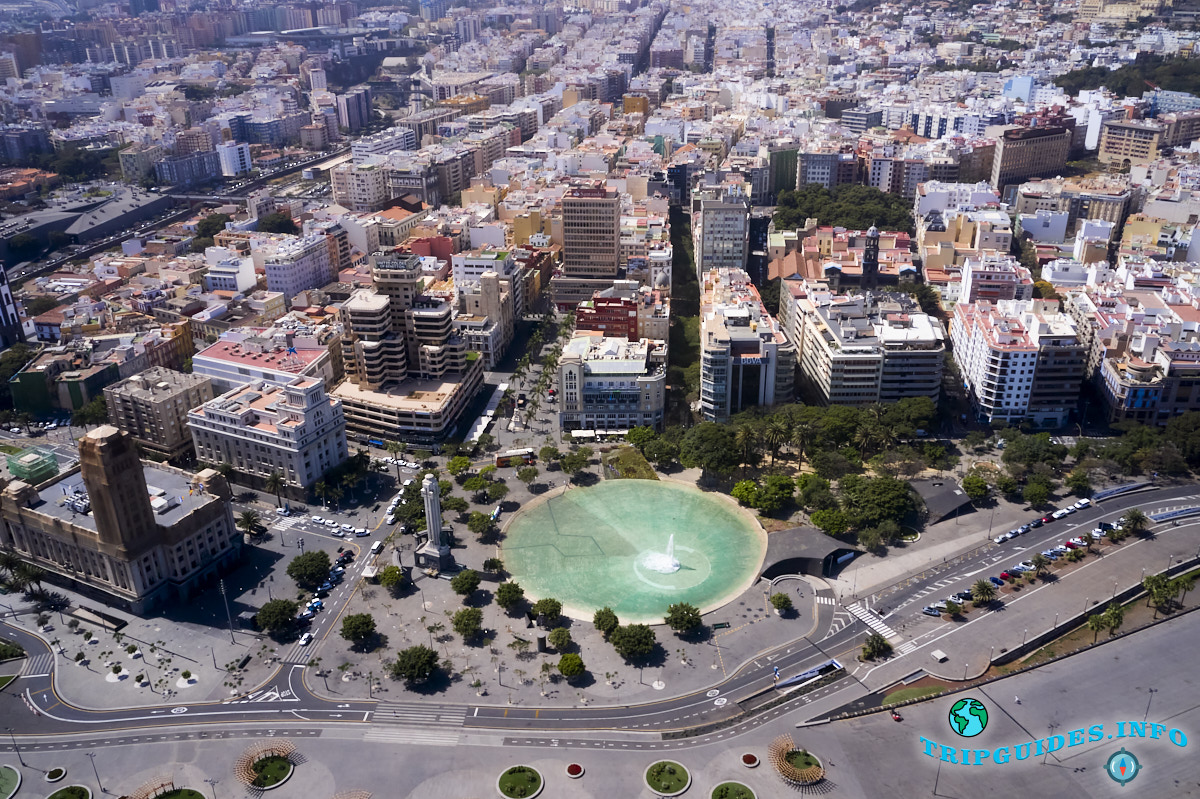Площадь Испании в Санта-Крус-де-Тенерифе Канарские острова Испания