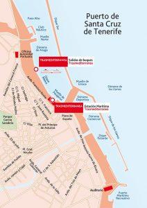 План-схема порта в Санта-Крус-де-Тенерифе Канарские остова