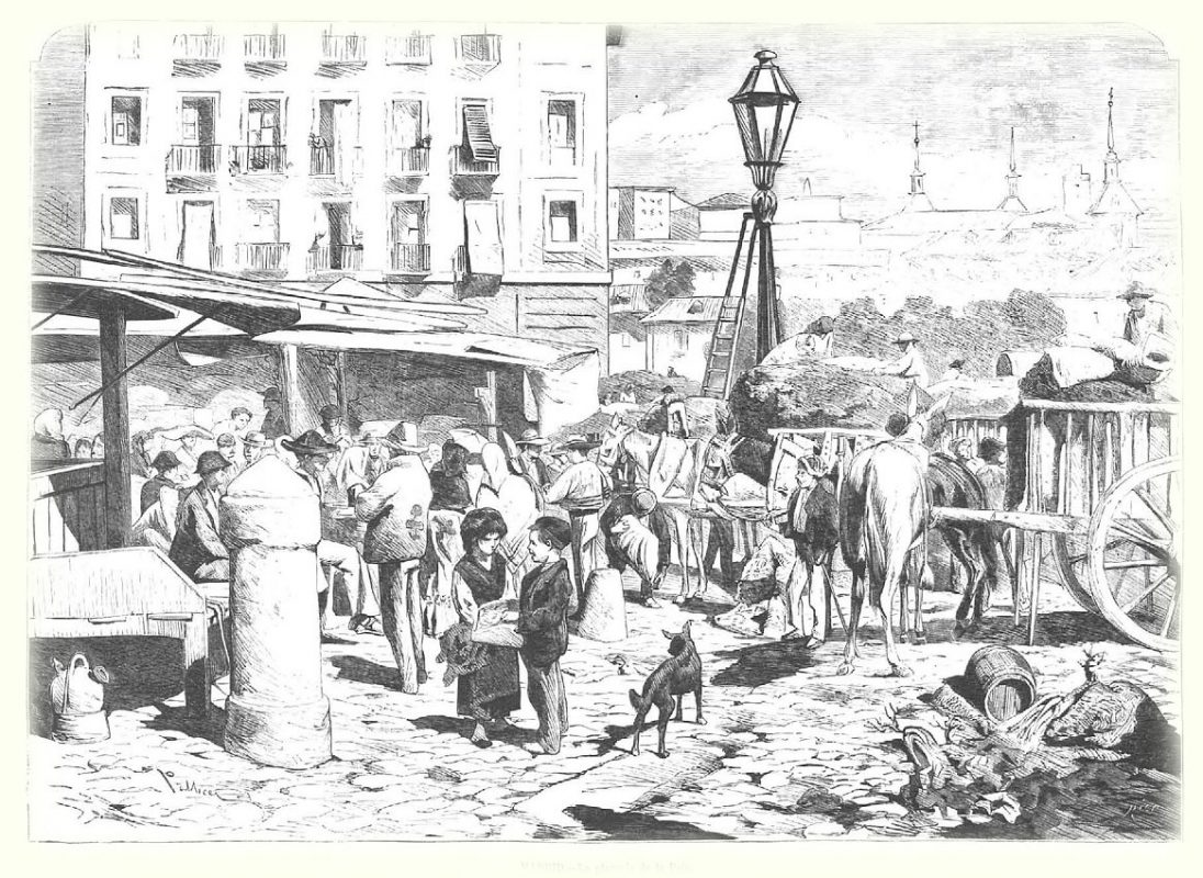 Иллюстрация: Соломенная площадь в 1872 году