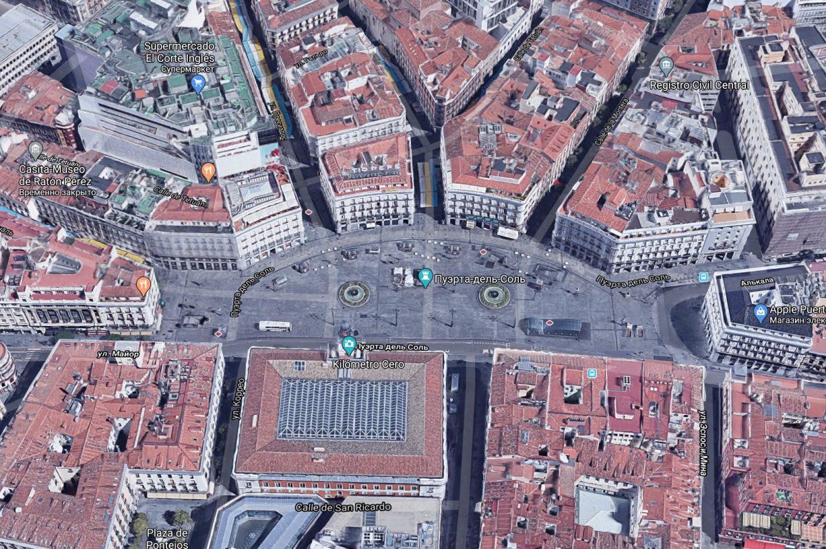 3D-карта Площадь Пуэрта-дель-Соль в Мадриде