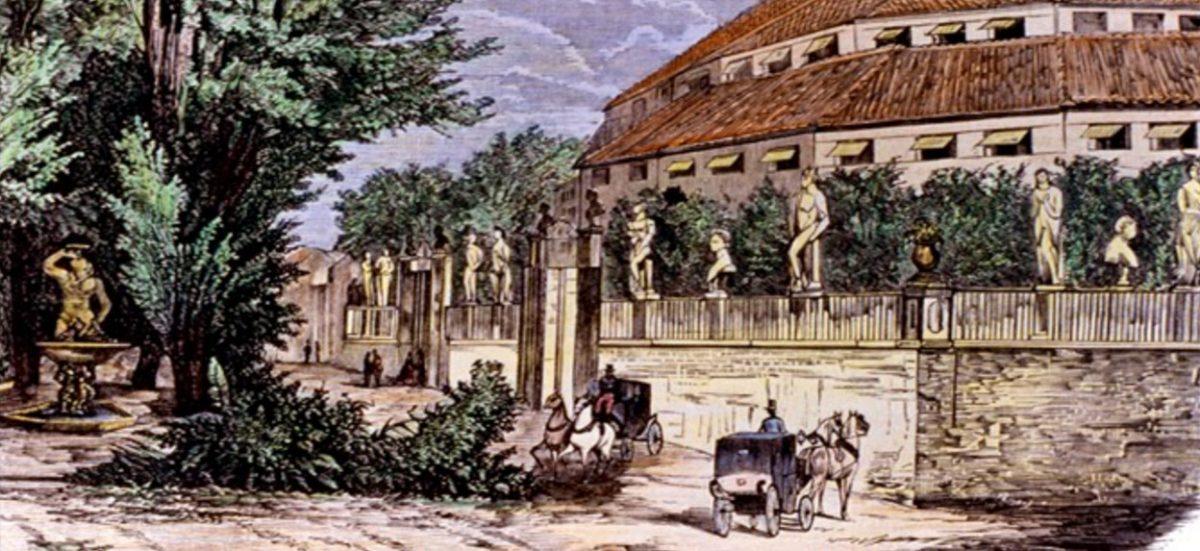Театр–цирк Прайс - гравюра 1870 год