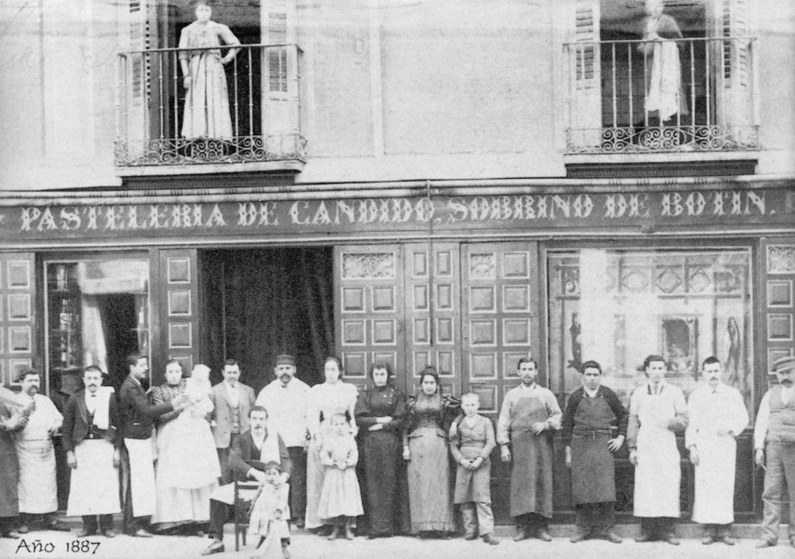 1887 год: Ресторан Собрино-де-Ботин в Мадриде, столице Испании