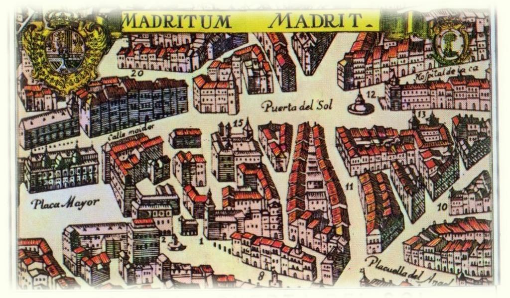 Иллюстрация: Площадь Пуэрта-дель-Соль в Мадриде в прошлом