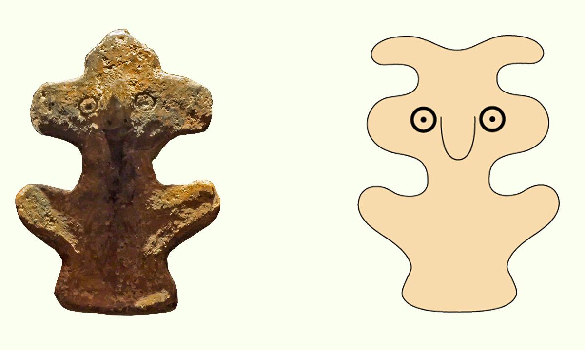 идол Гуатимак - Ídolo de Guatimac в музее Археологии и Истории в Пуэрто-де-Ла-Крус