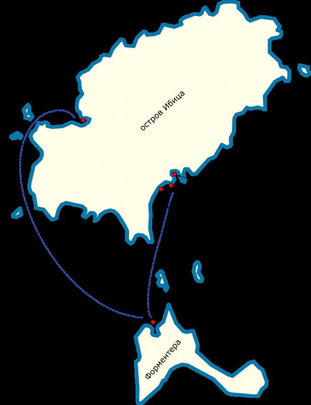 Как добраться с острова Ибица до острова Форментера Испания Балеарские острова