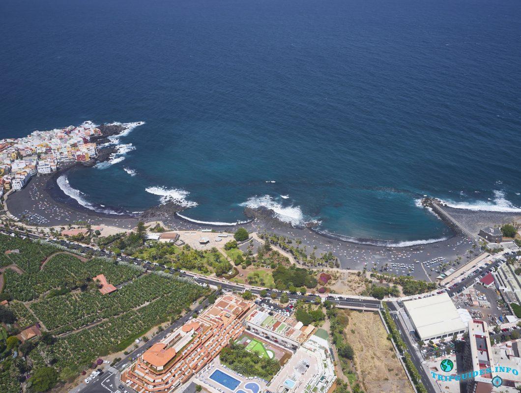 Пляж Плайя-Хардин в Пуэрто-де-Ле-Крус на Тенерифе, Канарские острова, Испания