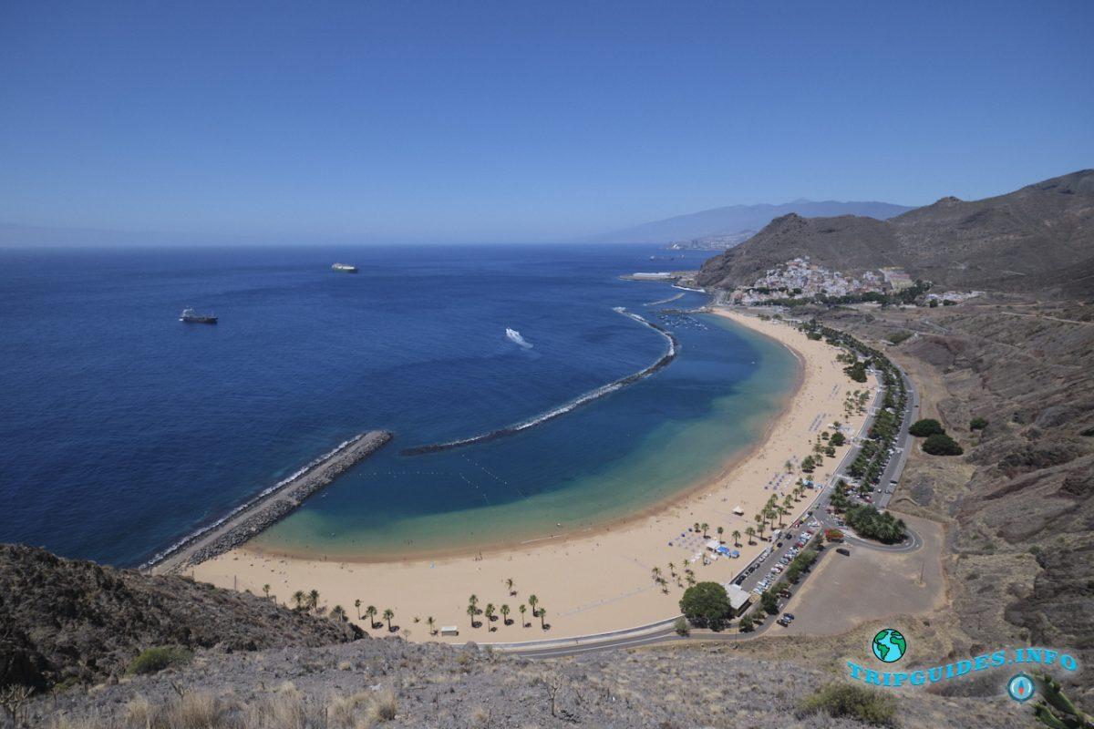 Пляж Лас-Тереситас в Сан-Андрес на Тенерифе, Канарские острова, Испания