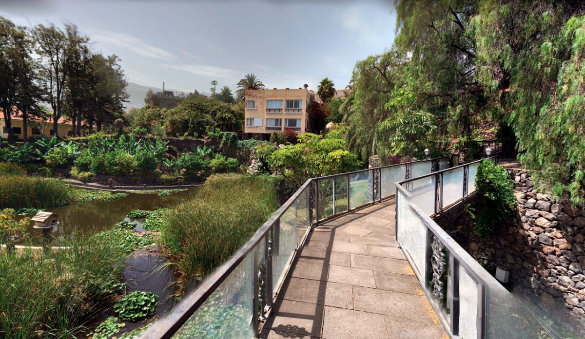 Сад Aquatico в городе Пуэрто-де-Ла-Крус на Тенерифе, Канарские острова, Испания