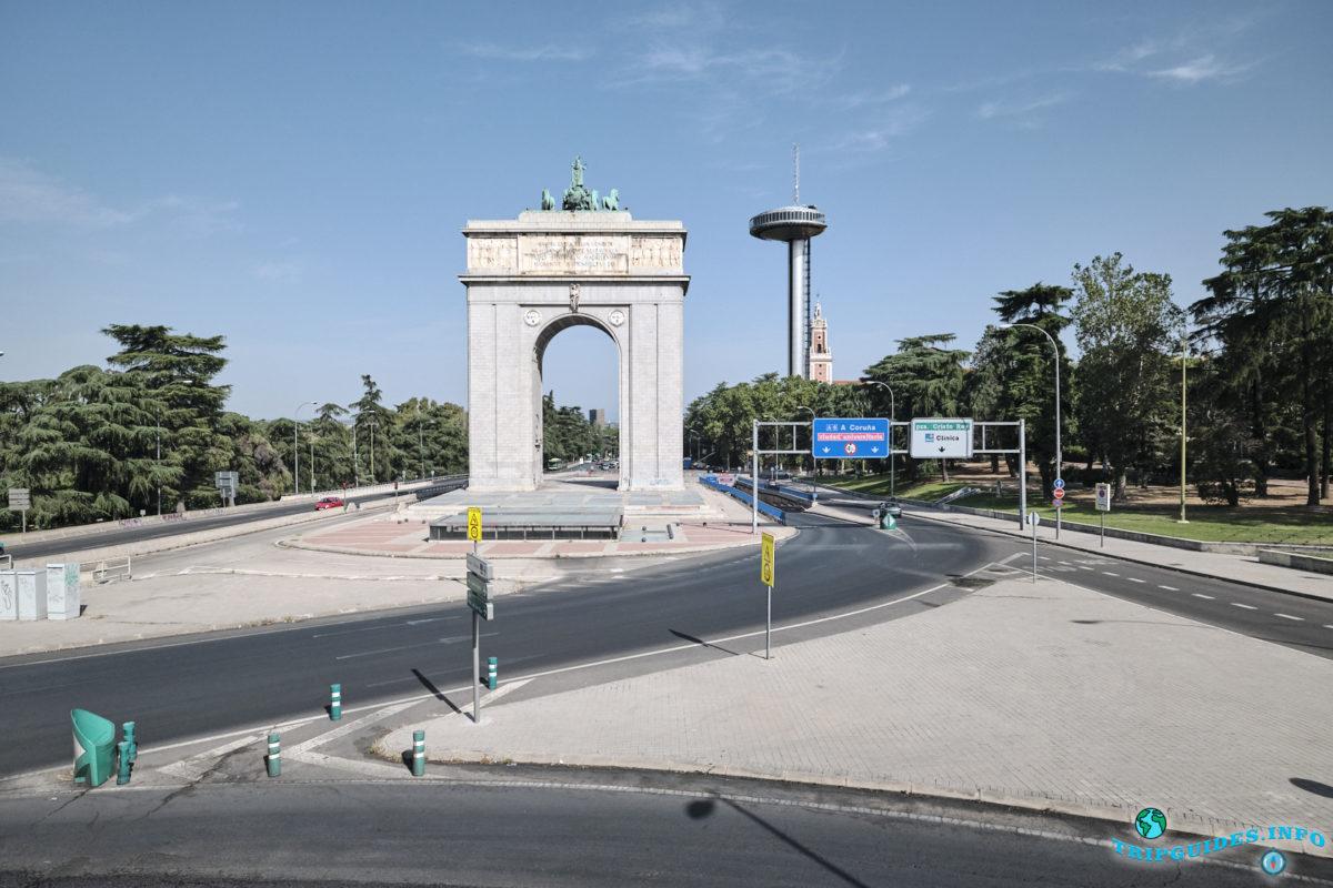 Арка Победы в Мадриде, Испания - Arco de la Victoria