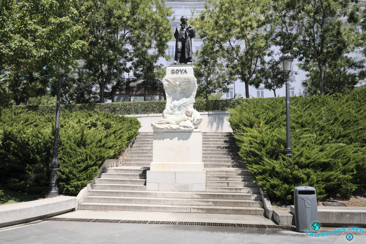 Памятник Гойе в Мадриде, Испания - Monumento a Goya Madrid