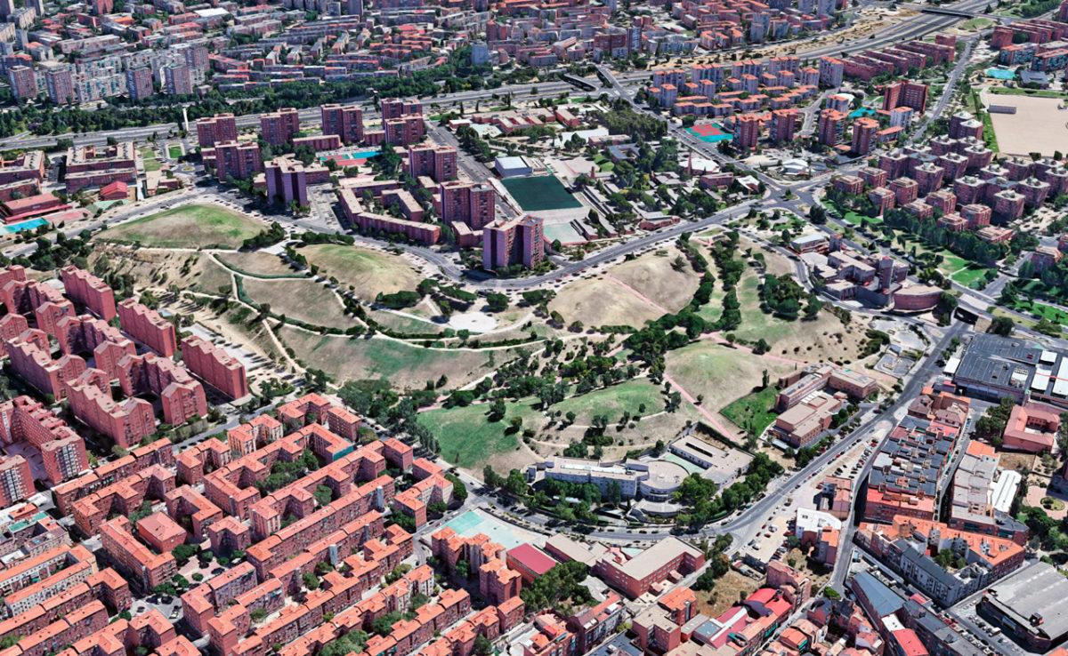 Парк Cerro del Tío Pío в Мадриде, Испания