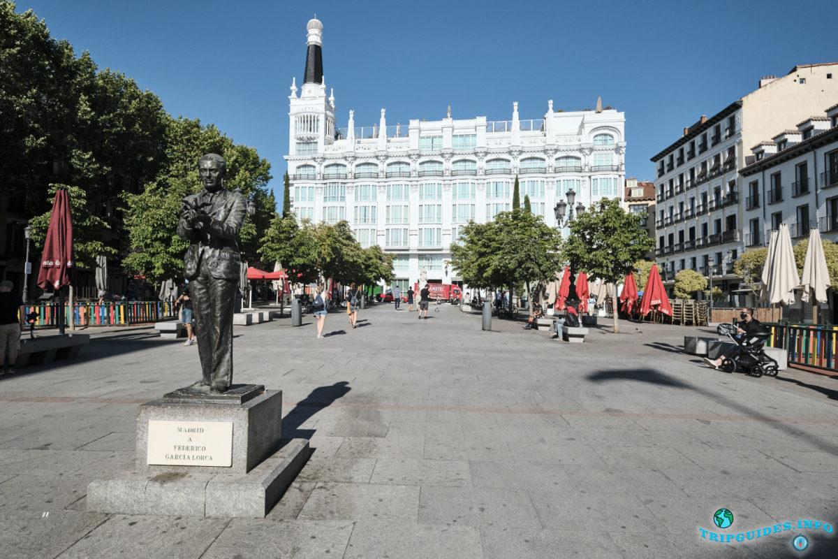 Площадь Святой Анны в Мадриде, Испания - Plaza de Santa Ana