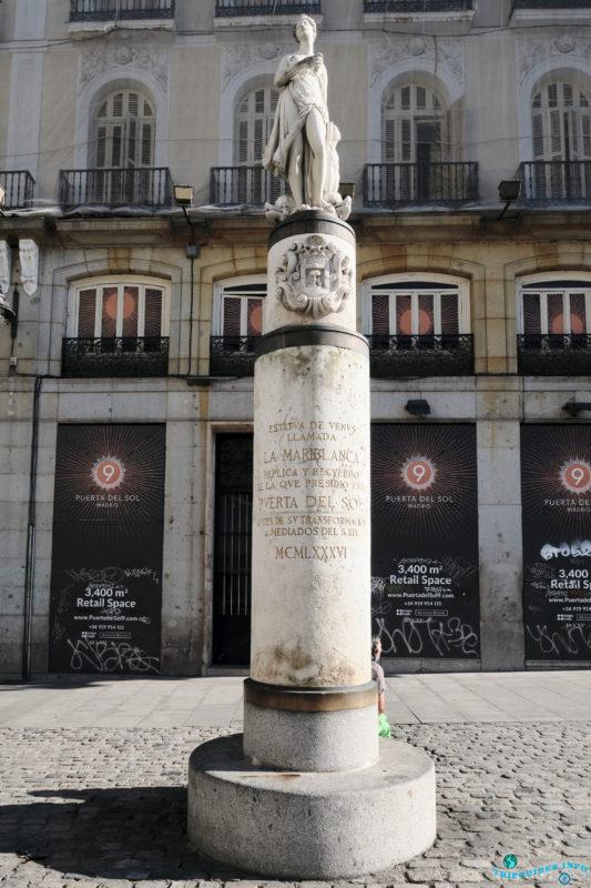 Статуя Марибланки - Площадь Пуэрта-дель-Соль в Мадриде, Испания - La Puerta del Sol