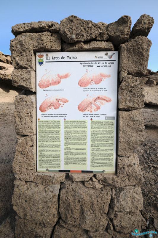 Природная арка в Тахао на Тенерифе, Канарские острова, Испания