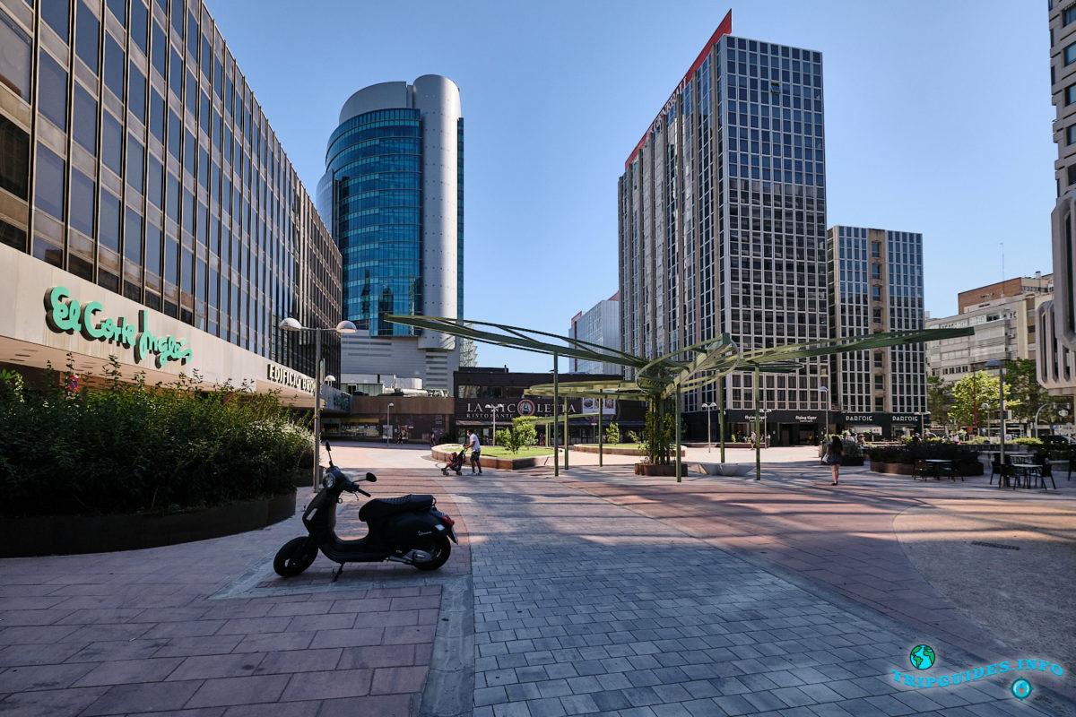 Финансовый квартал «Нуэвос Министериос» в Мадриде - столица Испании