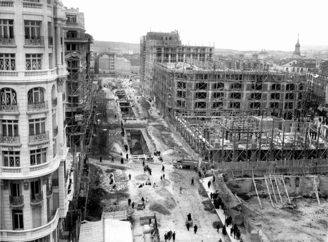 Улица Гран-Виа в прошлом - 1920 год